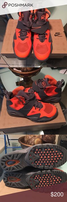 Nike air max express Nike air max express orange and dark grey men's shoe still look brand new use once Nike Shoes Sneakers