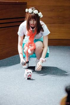 #MOMO : the girl and the dog both cute just as it is.