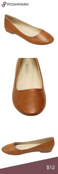 New Bella Marie Cognac Brown Flats Sz 6.5 These are technically a 7.5 but they are too small for me and I'm a 7 and a lot of other buyers have since advised to buy a full size down from regular so 6.5 it is. Very cute shoes. Cushion in sole. bella marie Shoes Flats & Loafers