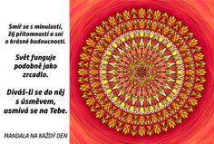 Mandala Dívej se s úsměvem Relax, Motivation, Life, Inspiration