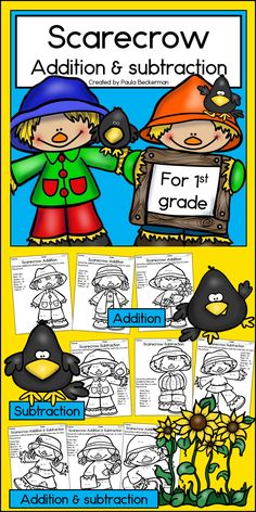 Addition and subtraction within 20 - fun practice for first grade, and it's NO PREP! $