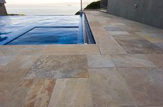 Russet Sandstone Select Paving and Pool Coping  #stonepaving #stonesupplier #landscapestone #stonepath #stoneflooring #pool #patiostone #sandstone