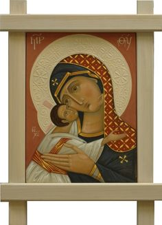 Holy Virgin of Tenderness. 2011 in Icons of the Mother of God,by iconographers Philip Davydov and Olga Shalamova