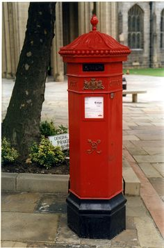 Victorian Post Box outside the Cathedral Church of SS Peter and Pauls, Church Street