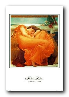 If you want to make a big impact in your living room with a beautiful fine gallery reproduction bring home this beautiful very famous Leighton painting, Flaming June fantasy art print poster. This wonderful wall poster will help to bring sophistication into your home. Frederic Leighton was an English painter and sculptor. He was educated in London. Frederic Leighton became associated with the Pre-Raphaelites movement and artists. t would surely enhance the visual appeal of your place. Wall Art Decor, Wall Art Prints, Fine Art Prints, Print Poster, Poster Wall, Fantasy Art, June, Posters, English