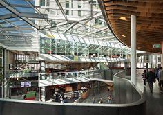 AUT Sir Paul Reeves Building, Jasmax | atrium design (false ceilng, detail, materiality)