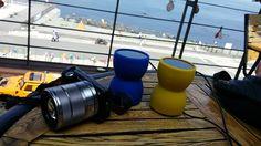 바다가 보이는 멋진 카페에서, 언제나 2대의 Bass Egg를 휴대하시는 김명식님이 보내주신 사진입니다
