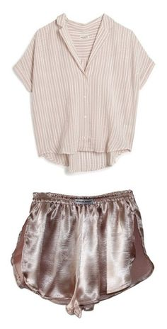 """Clothes #2"" by laurentheghostgirl ❤ liked on Polyvore featuring tops, blouses, shirts, t-shirts, red, short-sleeve button-down shirts, stripe shirt, pink striped shirt, button-down shirt and red shirt"