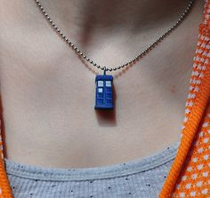 TARDIS necklace? Yes please.