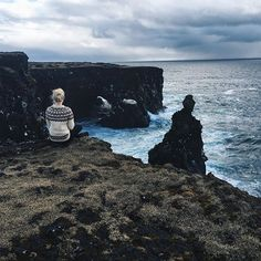 """cliffs & oceans. that's my home. the whole world is our playground."" - Melina Sophie"