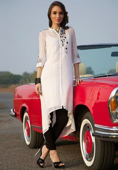 White Solid Kurta - Wishful By W Kurtas & kurtis for women | buy women kurtas and kurtis online in indium