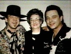 Stevie Ray and Jimmie with their mom, Martha Vaughan.