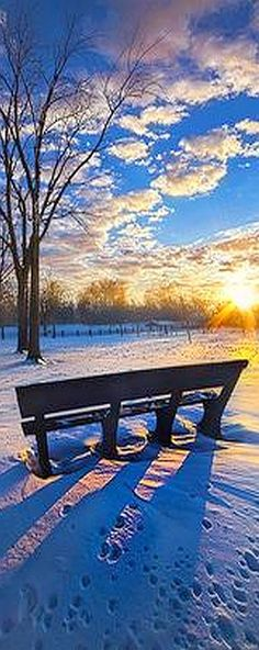 The Light That Beckons #photo by Phil~Koch #winter snow landscape natur sky white blue clouds amazing