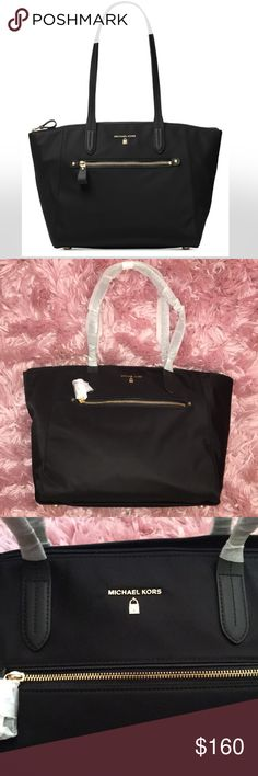 Michael Kors Black Nylon Tote NWT. Never used, perfect condition. See photos for product description. Michael Kors Bags Totes