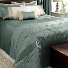 Teal Athens Collection Bedspread   Dunelm Mill £60