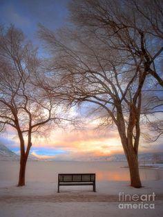 Winter in Penticton BC Canada