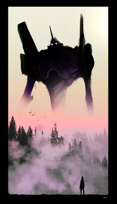 Now I am become death. The Destroyer Of Worlds  I assume that's misato at the bottom. This reminds me so much of Pacific Rim