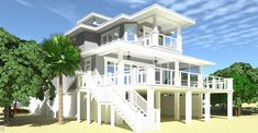 Anchor Watch - Exterior Video - Coastal Home Plans Coastal House Plans, Beach House Plans, Cottage House Plans, Beach House Decor, Coastal Homes, Cottage Homes, House Floor Plans, Coastal Living, Home Decor