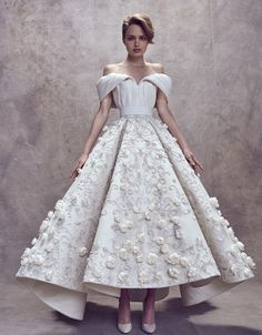 Ashi Studio Prom Dresses High Low Floral Embroidery Appliques Off Shoulder Party Gowns Dubai Arabic Evening Dress Custom Made Couture Dresses, Bridal Dresses, Wedding Gowns, Fashion Dresses, Prom Dresses, Party Gowns, Wedding Blog, Beautiful Dresses, Nice Dresses
