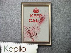 Best one yet.... Etsy listing at https://www.etsy.com/listing/123807395/keep-calm-cross-stitch-pattern