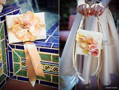 floral purses with real petals from karen tran