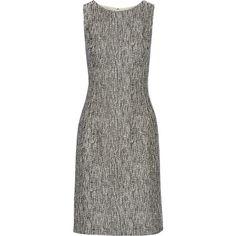 Oscar de la Renta Bouclé-tweed dress (2.870 BRL) ❤ liked on Polyvore featuring dresses, vestidos, black, tweed dress, oscar de la renta, oscar de la renta dresses and boucle dress