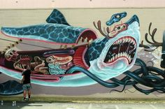 Nychos x Jeff Soto New Mural @ Pow Wow Hawaii 2013