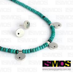 ISMOS Joyería: collar de turquesas y plata // ISMOS Jewelry: turquoise and silver necklace Collar, Turquoise Bracelet, Headphones, Bracelets, Jewelry, Fashion, Turquoise, Silver, Games