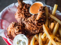 Tea-brined, buttermilk-dipped and twice-battered fried chicken encased ...