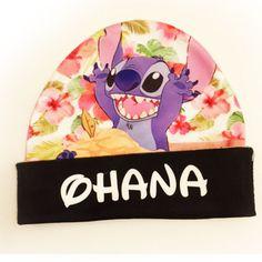 Lilo and Stitch Hawaiian Floral Beanie   Disney Hat   Ohana