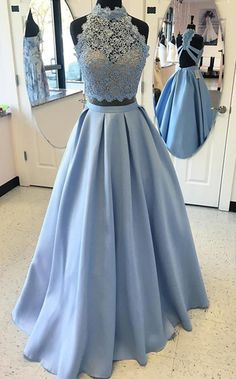 Prom Dresses Long Prom Dress Prom Dresses Lace Two Pieces Prom Dresses Prom Dresses Blue Prom Dresses 2019 Prom Dresses Two Piece, Backless Prom Dresses, A Line Prom Dresses, Cute Dresses, Dress Prom, Homecoming Dresses, Prom Gowns, Party Dresses, Long Dresses