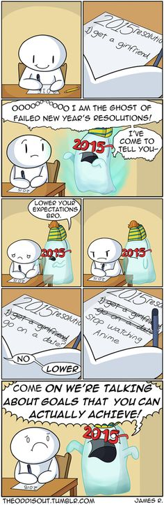 Ghost of Failed New Year's Resolutions Search for Fun - Funny Clone Funny Memes, Meme, Memes 2018 Ghost of Failed New Year's Theodd1sout Comics, Cute Comics, Funny Comics, Dark Comics, Funny Relatable Memes, Stupid Funny Memes, Hilarious, Funniest Memes, Odd Ones Out Comics