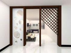 partition-gate-design Wood Partition Design, Glass Partition Designs, Living Room Partition Design, Room Door Design, Home Room Design, Bathroom Interior Design, Gate Design, Partition Ideas, Partition Walls