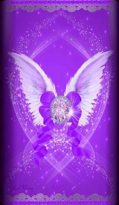 By Artist Unknown. Pink Diamond Wallpaper, Wings Wallpaper, Pretty Phone Wallpaper, Luxury Wallpaper, Heart Wallpaper, Purple Wallpaper, Butterfly Wallpaper, Purple Backgrounds, Cellphone Wallpaper