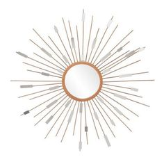 Southern Enterprises Olivia 36 in. x 36 in. Painted Gold Framed Mirror-HD098135 at The Home Depot