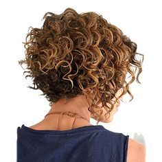 AmorWig Fashion Short Small Curly Dark Brown Hair Wigs for Women Daily Use/Cosplay #curly #curlyhair #curls