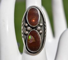 Handmade & Vintage Jewelry & Collectibles by HighClassHighway Antique Rings, Or Antique, Vintage Rings, Vintage Jewelry, Vintage Silver, Agate Jewelry, Agate Ring, Sterling Silver Jewelry, Gold Jewellery