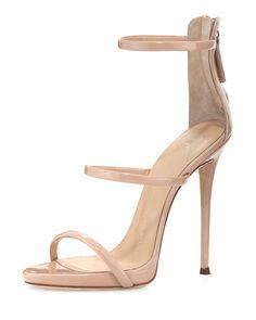 Coline Patent Triple-Strap 110mm Sandal | Giuseppe Zanotti
