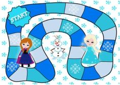 Frozen Board Game by Joke Verheyen Frozen Games, Frozen Movie, Speech Activities, Therapy Activities, Make Your Own Game, File Folder Games, Programming For Kids, New Years Party, Family Games