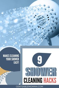 Hate cleaning your shower and tub? Check out these 9 hacks to clean the soap scum and hard water stains on your shower door, tile, and shower. Includes lots of tips for the best way to clean your shower. Clean Shower Doors, Glass Shower Doors, Dawn Detergent, Cleaning Shower Tiles, Dawn Dish Soap, Hard Water Stains, Soap Scum, Shower Liner, Spring Cleaning