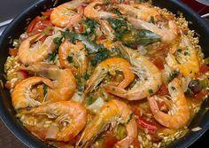 Tzatziki, Paella, Croissant, Chorizo, Shrimp, Main Dishes, Food Porn, Meat, Ethnic Recipes
