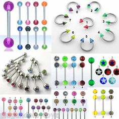 Wholesale Mix Lot Lip Tongue Eyebrow Piercing Bar Circular Barbell Body Jewelry Starting @ $3.10