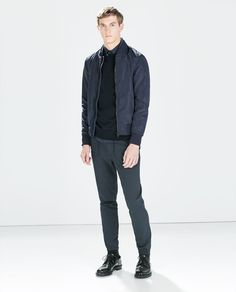 ZARA - MAN - JACKET WITH FAUX LEATHER COLLAR   $41.93