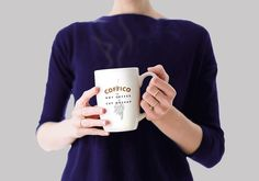 This is a mockup PSD of woman having a cup of coffee in her hands. The mockup template comes with smart-object layer to add your logo design. Just dou...