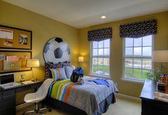 Soccer-inspired boy's room