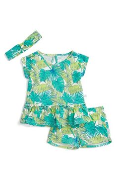 Rosie Pope Graphic Print Tee, Shorts & Headband Set (Baby Girls) available at #Nordstrom