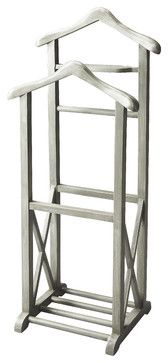 Butler Specialty Company Riley Wood Valet Stand - Gray - 26 In. Woodworking Jointer, Woodworking For Kids, Woodworking Furniture, Woodworking Plans, Rustic Furniture Stores, Home Furniture, Mens Valet Stand, Clothes Stand, Into The Woods