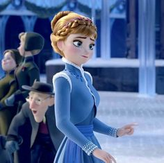 Anna Disney, Disney Princess Frozen, Anna Frozen, Disney Love, Princesas Disney, Blonde Hair, Elsa, Cartoon, Disney Characters