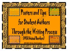 Posters and Tips For Student Authors Through the Writing Process from ornaami on TeachersNotebook.com -  (13 pages)  - Here are 9 posters with tips to guide budding authors through the writing process.