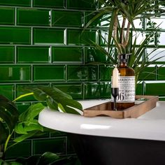 Capture that sought after period look in your bathroom or kitchen with these charming Victorian Green Metro Tiles, which have a rich hue! Their bevelled edge contains a slightly lighter tone; Victorian Tiles Bathroom, Metro Tiles Bathroom, Kitchen Tiles, Green Tile Bathrooms, Downstairs Bathroom, Small Bathroom, Bathroom Wall, Green Subway Tile, Green Tiles